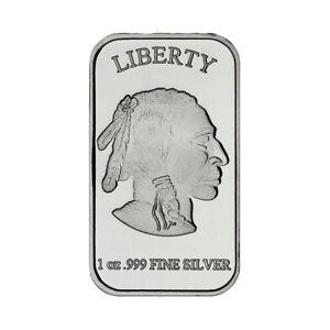One-Ounce-Silvertowne-999-Mint-Silver-Buffalo-Bar