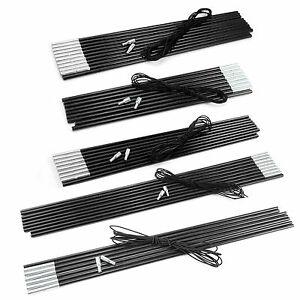 Fibreglass Outdoor Tent Pole Kit 7 9 11 Sections Camping