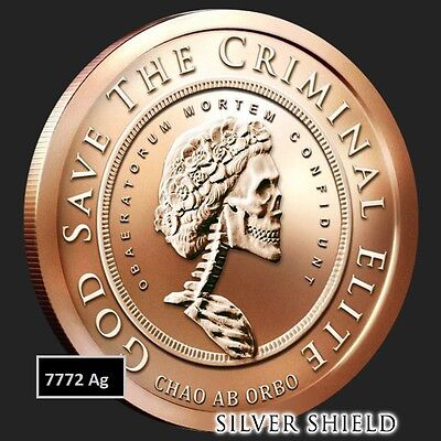 2017 1oz GRATEFUL DEATH BU FREE COPPER SILVER SHIELD SSG 777