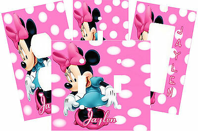 PERSONALIZED MINNIE MOUSE PINK POLKA DOT LIGHT SWITCH PLATE COVER