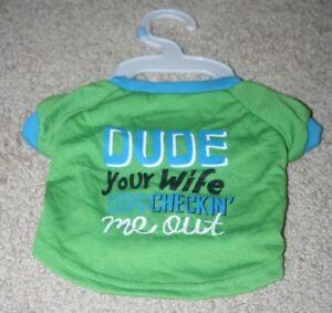 f4af8da4ef0 NEW Grreat Choice Dog Shirt Size Small Dude Your Wife Keeps Checking ...