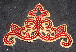Blue sequin embroidery patch lace applique motif dress irish dance costume