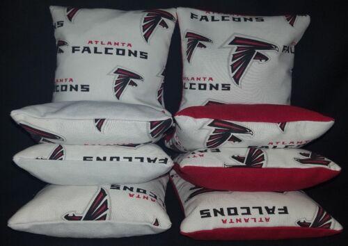 Atlanta Falcons Set of 8 Cornhole Bean Bags FREE SHIPPING
