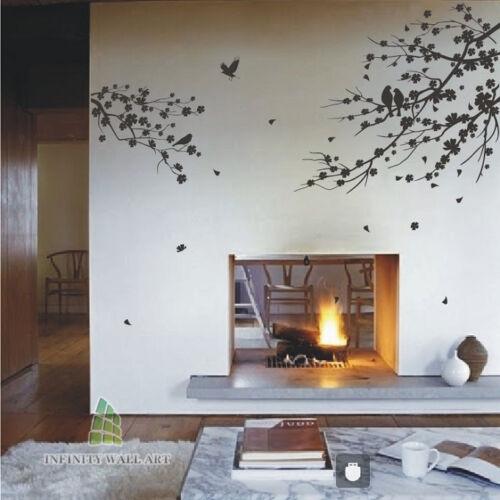 Wall Stickers Tree Flower Kids Art Murals Decals Butterfly Home Vinyl Decor-P502