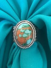 Stone Scarf Slide Wild Rag turquoise  silver plated