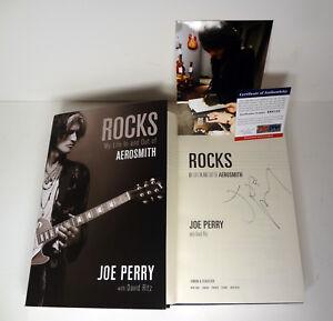 Joe-Perry-Aerosmith-Signed-Autograph-Rocks-1st-Edition-Book-Proof-PSA-DNA-COA