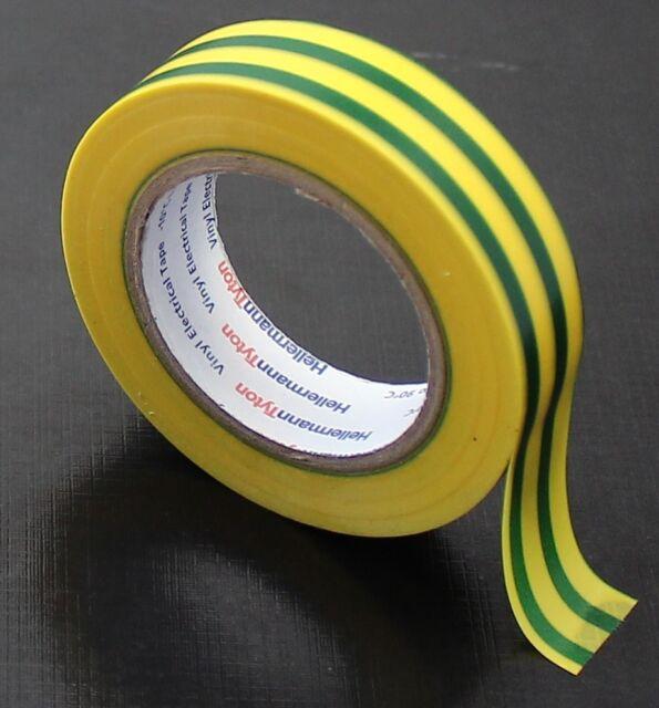PVC Isolierband, HelaTape Flex 15, 10m x 15mm, gelbgrün