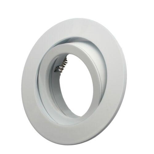 Weiß schwenkbar LED Einbaustrahler 230V Set Einbauleuchten Spot flach Schwarz
