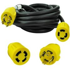 Generator Extension Cord 25 Ft 4 Prong Power Cable 10 4 30 Amp Adapter Plug New
