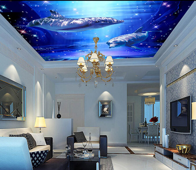 3D Submarine Turtle 526 WallPaper Murals Wall Print Decal Wall Deco AJ WALLPAPER