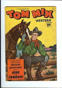 TOM MIX WESTERN #12 1948 Fawcett Golden Age Western The Black Onyx Queen GD