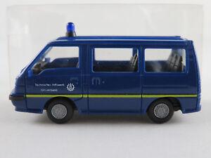 Rietze-Mitsubishi-L300-II-Bus-1987-1998-034-THW-034-in-blau-1-87-H0-NEU-unbespielt