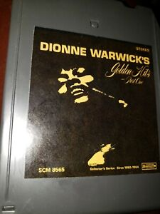 Dionne Warwick's Golden Hits Part One Scepter Records 8 track stereo tape tested