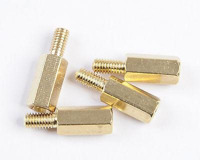 25pcs M3 Male 6mm x M3 Female 10mm M3 10+6 Brass Standoff Spacer
