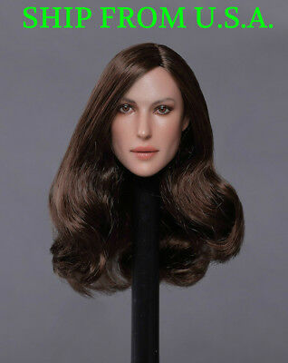 """1//6 female head sculpt for 12/"""" figure hot toys phicen verycool GC020 B ❶ USA❶"""