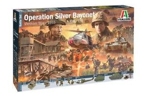 Operation Silver Baïonnette Guerre du Vietnam 1965 Ensemble de combat Kit Italeri 1:72 It6184