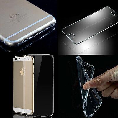 Panzer Glas Folie+ultra dünn schutzhülle Tasche handy Case Cover Bumper Silikon
