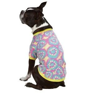 b9f5a655a23 Casual Canine® Starburst Tie Dye Dog Tees T-Shirt Cotton Shirt Retro ...