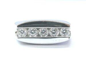 Movado Mens Platinum Round Diamond 5Stone Jewelry Ring 100Ct eBay