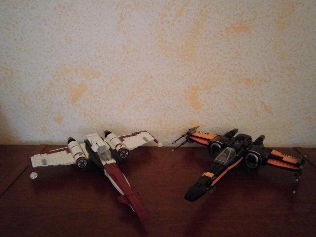 LEGO STAR WARS - 75004 Z 95 HEADHUNTER + 75102 POE's X-WING FIGHTER