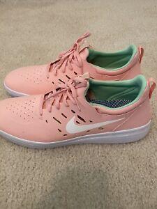 Gimnasio Escoger Litoral  Nike sb Nyjah Libre-Rosa Sushi/Coral Talle 12 Nuevos Sin Caja   eBay