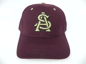 ARIZONA STATE ST. SUN DEVILS MAROON NCAA VINTAGE FITTED ZEPHYR DH ... 4eda11c9e232