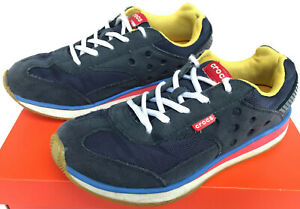 Crocs Retro Sneaker 14240 Navy Red Comfort 80 S Running Sneakers Shoes Men S 7 5 Ebay