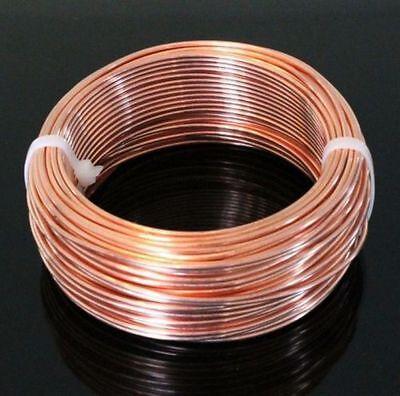 Copper Wire 14 Ga Round  HALF HARD 1 Lb Coil Solid bare Copper 80 Ft