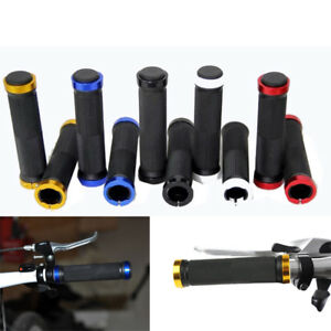 Bicycle-Cycling-Handle-Bar-Grips-1-Pair-Double-Lock-On-Locking-Mountain-BMX-Bike