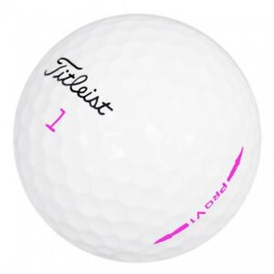 50-Near-Mint-Titleist-Pro-V1-Pink-Lady-Limited-Edition-Used-Golf-Balls-4A