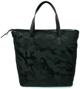 da3b10c7dd84 Image is loading Michael-Kors-Mens-Kent-Nylon-Black-Camouflage-Travel-