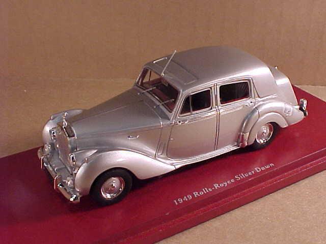 Maßstabgetreu 1 43 Resin 1949 Rolls Royce Silbern Dawn Sedan, Silbern  Tsm114320