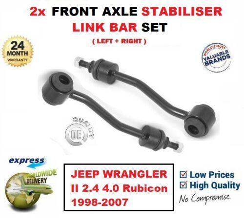 FOR JEEP WRANGLER 2.4 4.0 Rubicon 1998-2007 2x FRONT STABILISER STRUT LINK BARS