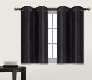 2 Panels Bedroom Half Window Curtain Amp Kitchen Window Tier