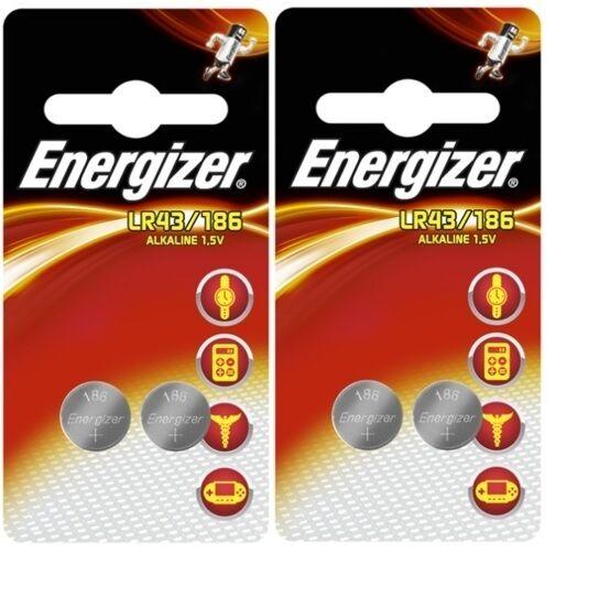 Lot de 4 piles Energizer LR43 / 186 / AG12