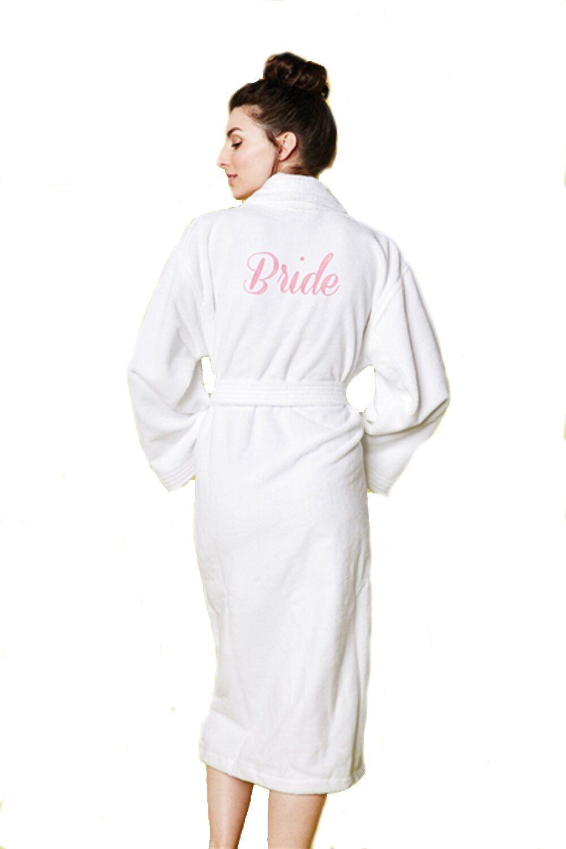 metà fuori 77c19 b5522 Bedhead Pajamas Spugna Velluto lungo Vestaglia 'Sposa' Ricamo ...
