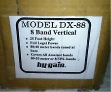 Hy-Gain DX-88 - 10/12/15/17/20/30/40/80  Meter HF Vertical Antenna w/ 3 Yr Warr