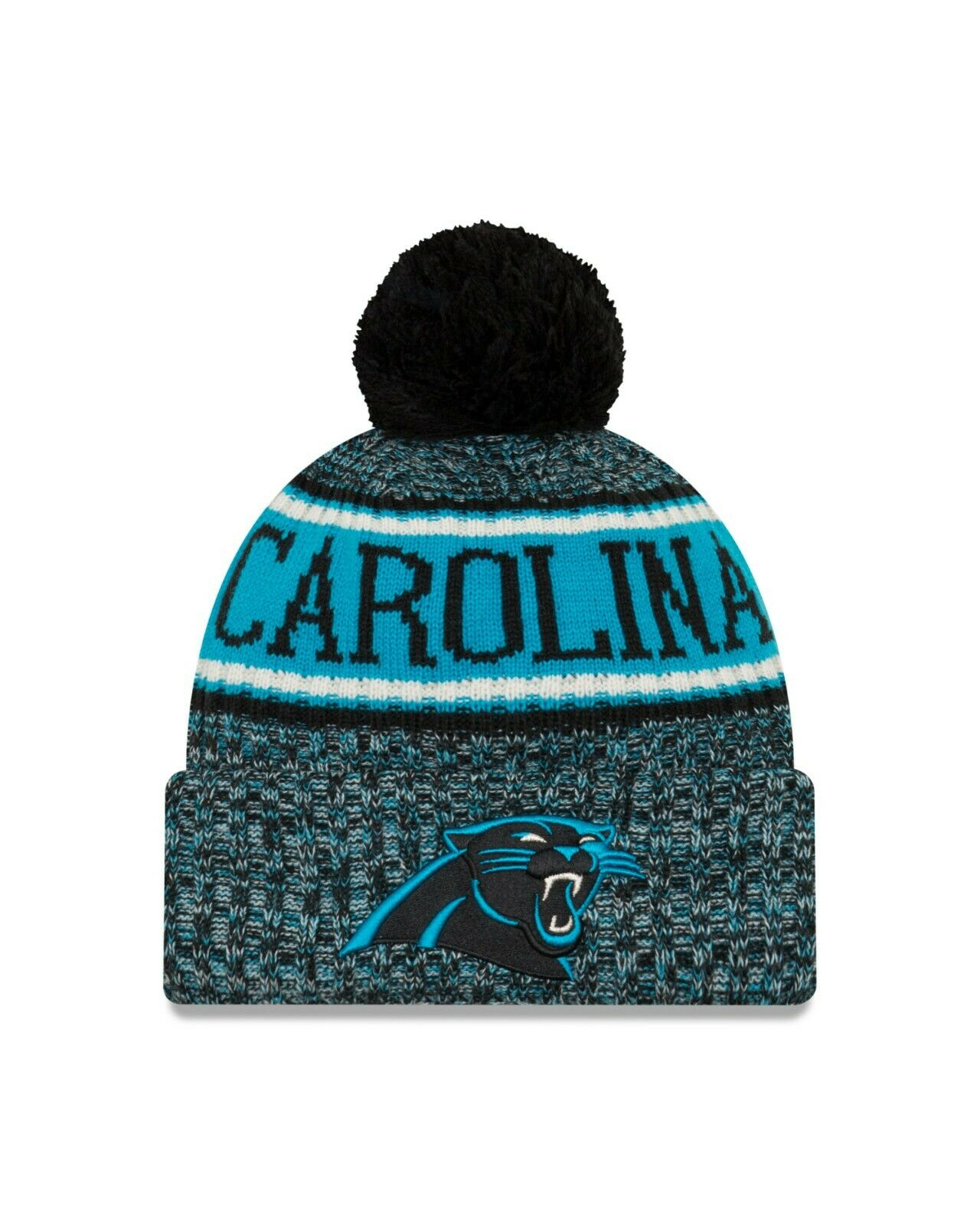 4456724d6fb8db Era Carolina Panthers Black 2018 NFL Sideline Cold Weather Reverse ...