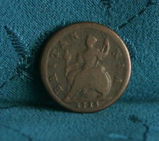 Great Britain 1/2 Penny 1718 Copper World Coin UK Seated Half Cent GB England