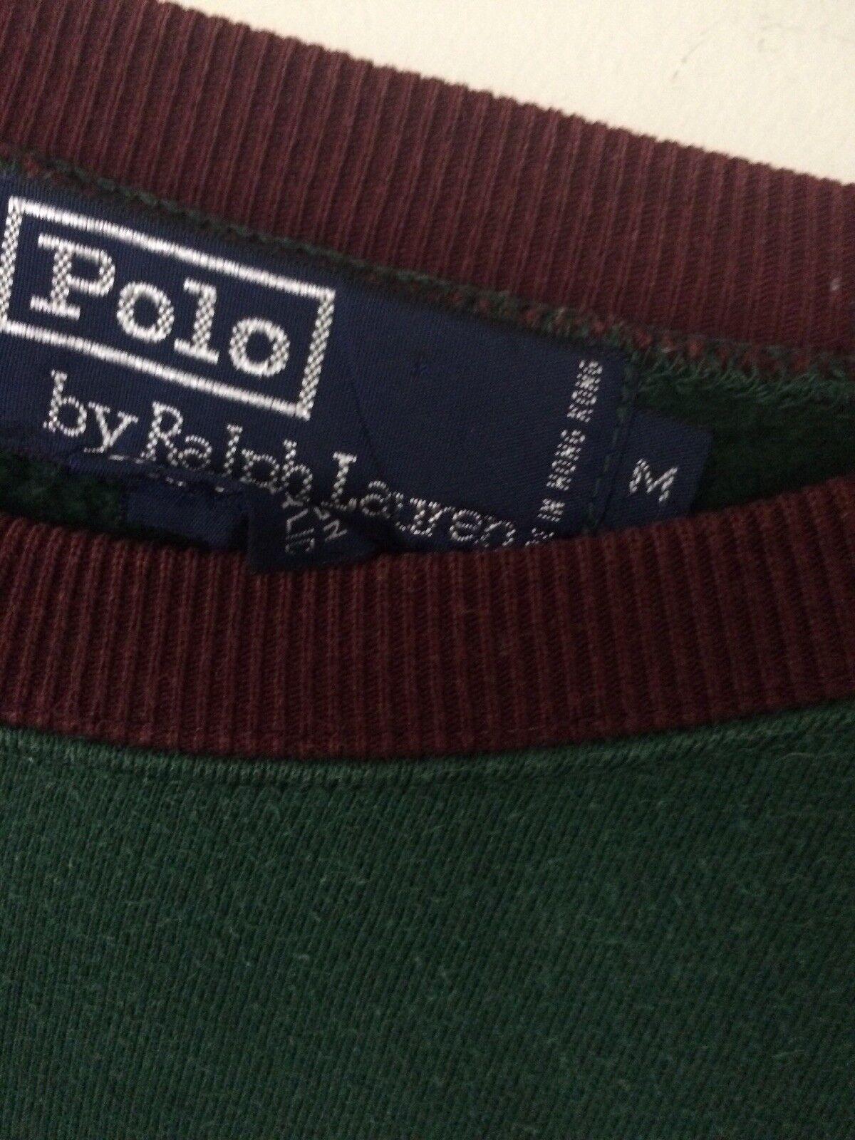Vtg 80s 90s Polo Ralph Lauren RLPC Green Sweatshi… - image 2