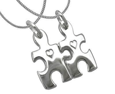 Zeichen echt Silber 925 Zirkonia zum teilen Sterlingsilber Partneranhänger Chin