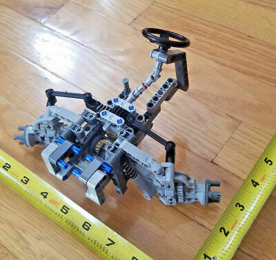 LEGO Technic Front Wheel Drive Spring Steering servo and wheel v2 new parts