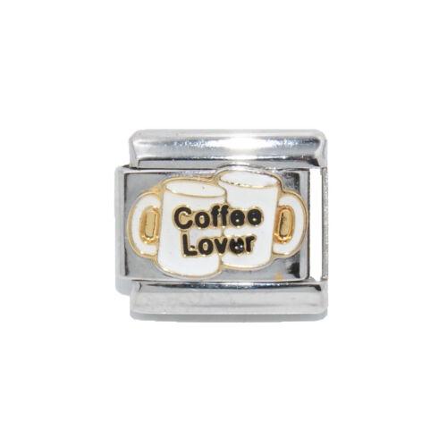 Amante de café encanto italiano-se adapta a 9mm clásico italiano pulseras