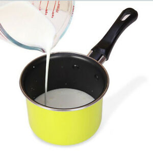 2 Stück Mini Metall Kochtopf Milch Erwärmung Topf Induktion Kochtopf