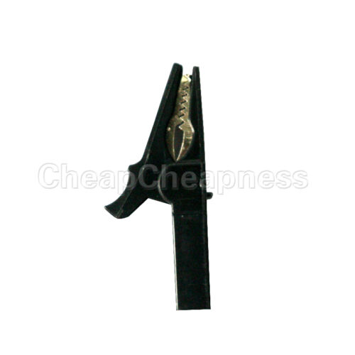 6X 55mm Alligator Clip for 4mm Banana PLUG Test cable Probes Insulate Clamp KQ