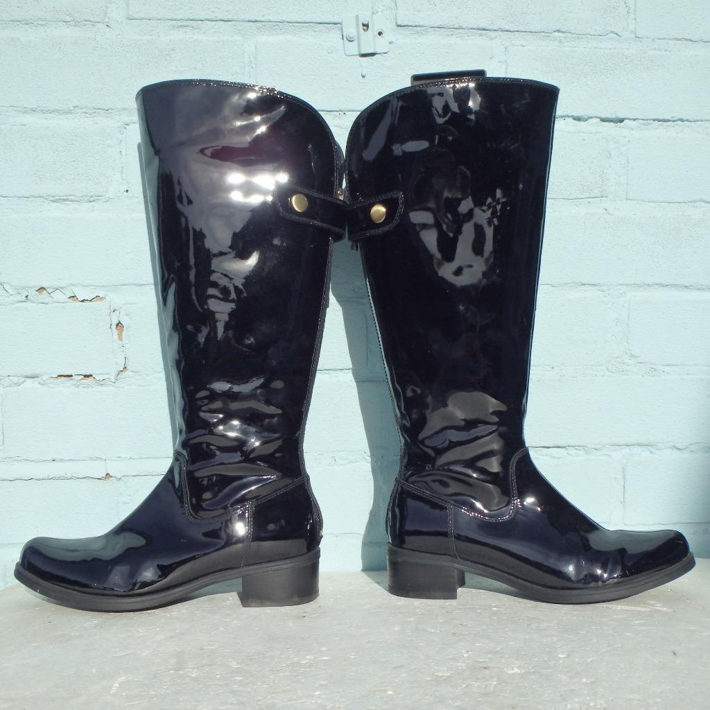 Clarks Cuir Verni Pointure UK 3 EUR 36 pour femme sexy femmes bottes noires