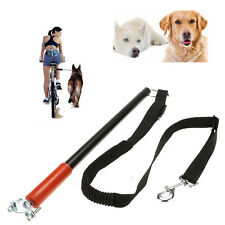 Dogs Bicycle Leash Hands Free Lead Dog Walker Bike Distance Keeper Safe Ride