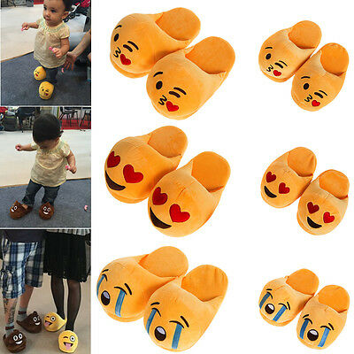 Emoji Expression Unisex Slippers Warm Home Indoor Slippers Plush Slipper Shoes
