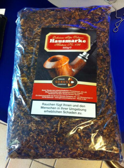Pfeifentabak Hausmarke 2 x 500g= 1 Kilo  1/92 Black Cavendish Vanilla Topp Duft
