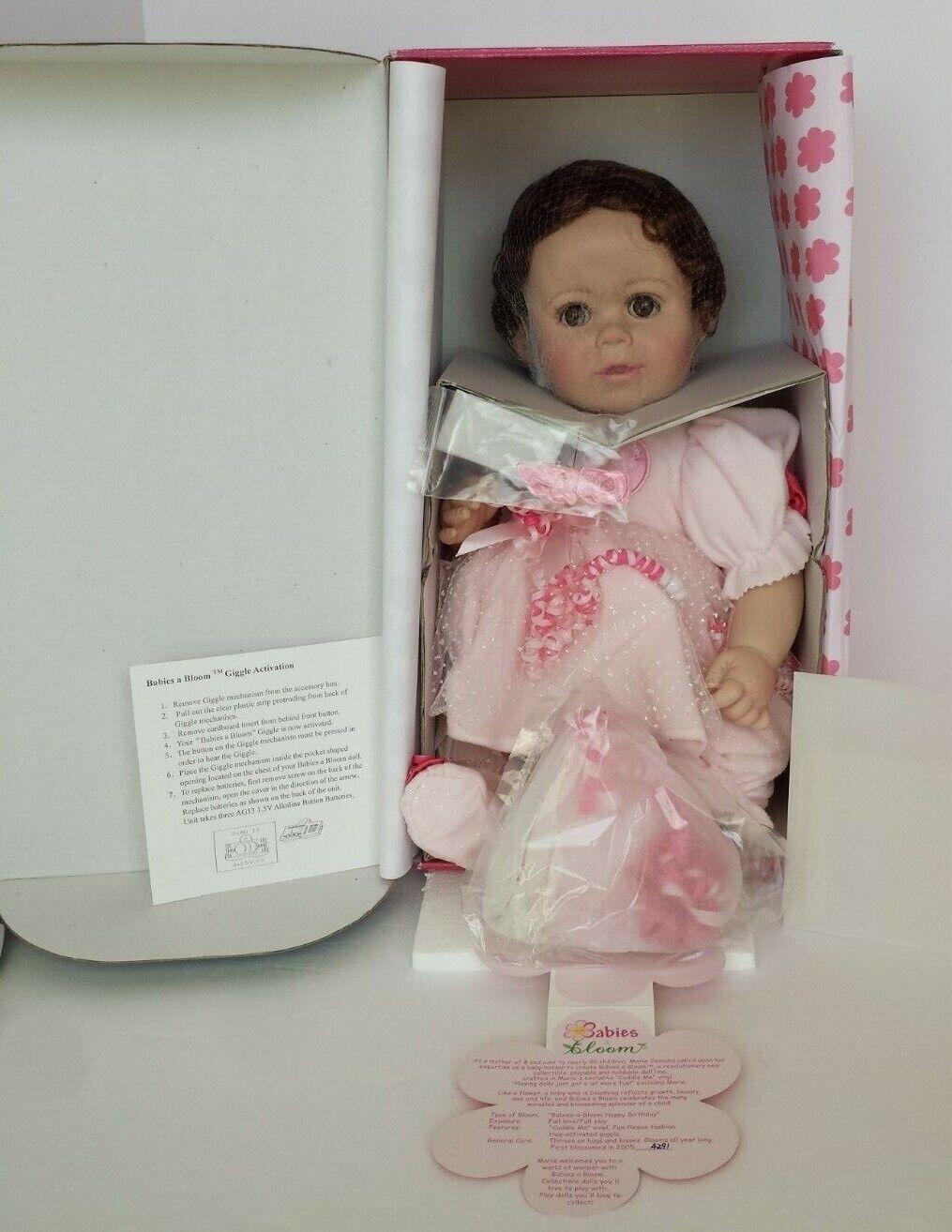 NEW NRFB COA  4291 MARIE OSMOND BABIES A BLOOM HAPPY BIRTHDAY VINYL DOLL